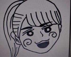 金村美玖が描いた丹生ちゃんの絵